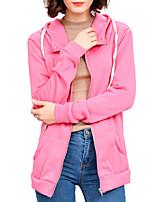Недорогие -Жен. Куртка Классический / Уличный стиль - Однотонный