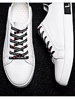 Недорогие -Муж. Комфортная обувь Полиуретан Весна & осень На каждый день Кеды Черно-белый / Черный / Красный / Черный / зеленый