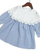 cheap -Kids Girls' Patchwork Long Sleeve Dress