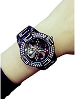cheap -Women's Wrist Watch Chronograph / Luminous / Casual Watch Alloy Band Luxury / Bangle Black / White