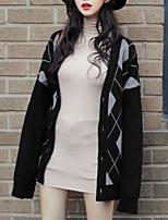 cheap -women's long sleeve cardigan - geometric v neck