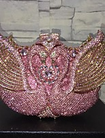 cheap -Women's Bags Alloy Evening Bag Crystals / Hollow-out Blushing Pink