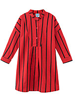 cheap -Kids Girls' Active Striped Long Sleeve Dress