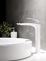 Недорогие -Ванная раковина кран - Новый дизайн Хром / Живопись По центру Одной ручкой одно отверстие