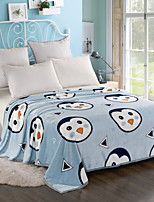 cheap -Flannel, Printed Cartoon Polyester / Cotton Blankets