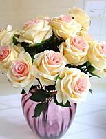 Недорогие -Искусственные Цветы 1 Филиал Классический / Односпальный комплект (Ш 150 x Д 200 см) Стиль / Пастораль Стиль Розы Букеты на стол