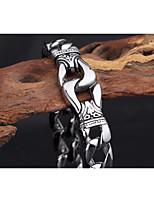 abordables -Homme Lien cubain Bracelet - Inoxydable Visage, Séries de totem simple, Punk, Rock Bracelet Argent Pour Soirée / Bar