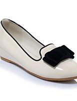 Недорогие -Жен. Обувь Полиуретан Весна лето Удобная обувь На плокой подошве На плоской подошве Красный / Винный / Миндальный