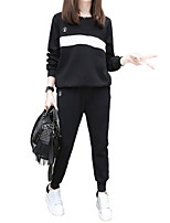 cheap -Women's Pocket Tracksuit - Black Sports Color Block Pants / Trousers / Sweatshirt Yoga, Running, Fitness Activewear Thermal / Warm, Breathable, Sweat-wicking Micro-elastic