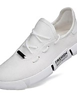 Недорогие -Муж. Комфортная обувь Сетка Осень Кеды Белый / Черный