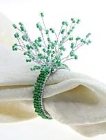 abordables -Distingué / Classique Verre / Plastique Carré Ronds de serviettes Couleur Pleine Fleur Décorations de table 12 pcs