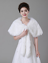 cheap -Sleeveless Faux Fur Wedding / Birthday Women's Wrap With Pendant Capelets