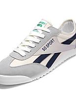 cheap -Men's Canvas / PU(Polyurethane) Fall Comfort Sneakers Color Block Black / Green / Blue