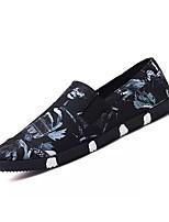 Недорогие -Муж. Комфортная обувь Хлопок Весна / Осень Шинуазери (китайский стиль) Мокасины и Свитер Темно-синий / Желтый