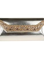 cheap -Women's Bags PU(Polyurethane) / Alloy Evening Bag Buttons Gold / Black / Silver