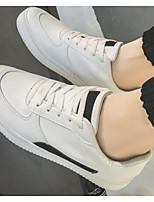Недорогие -Муж. Комфортная обувь Микроволокно Весна & осень На каждый день Кеды Черно-белый / Белое / серебро