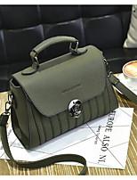 cheap -Women's Bags PU(Polyurethane) Shoulder Bag Solid Light Grey / Sky Blue / Wine