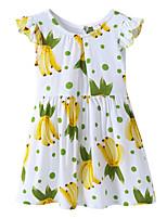 economico -Bambino / Bambino (1-4 anni) Da ragazza Frutta Manica corta Vestito