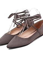 Недорогие -Жен. Комфортная обувь Замша Весна На плокой подошве На плоской подошве Черный / Серый / Розовый