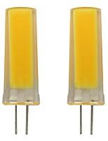 Недорогие -2pcs 3 W 150-200 lm G4 Двухштырьковые LED лампы 1 Светодиодные бусины COB Декоративная Тёплый белый / Холодный белый 220-240 V