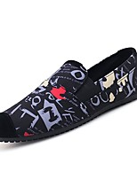 cheap -Men's Comfort Shoes Canvas Spring / Fall Loafers & Slip-Ons White / Black / Red