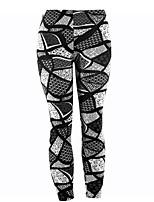 preiswerte -Damen Alltag Sportlich Legging - Blumen Mittlere Taillenlinie