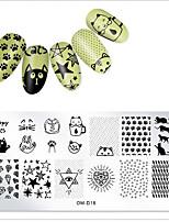 cheap -1 pcs Template Classic Theme / Creative nail art Manicure Pedicure Pattern / Casual / Daily Daily Wear