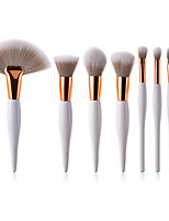 cheap -8pcs Makeup Brushes Professional Make Up Nylon Brush Full Coverage Wooden / Bamboo