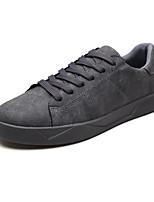 Недорогие -Муж. Комфортная обувь Замша Осень Кеды Дышащий Черный / Серый / Хаки