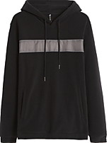 cheap -Men's Basic Hoodie - Solid Colored / Color Block