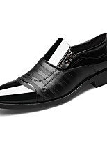 cheap -Men's Formal Shoes PU(Polyurethane) Spring & Summer Business Loafers & Slip-Ons Breathable Striped Black / Brown / Party & Evening
