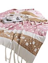 baratos -Super Suave, Impressão Reactiva Listrado / Pontos Algodão cobertores