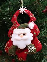 Недорогие -Рождественские украшения Праздник Хлопковая ткань Квадратный Оригинальные Рождественские украшения
