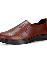 cheap -Men's Comfort Shoes PU(Polyurethane) Fall Loafers & Slip-Ons Black / Brown