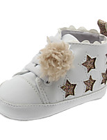 cheap -Girls' Shoes PU(Polyurethane) Spring &  Fall First Walkers Sneakers Gore / Pom-pom for Baby White