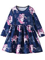 Недорогие -Дети / Дети (1-4 лет) Девочки Мультипликация Длинный рукав Платье