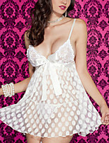 cheap -Women's Matching Bralettes / Suits Nightwear - Lace / Mesh, Solid Colored