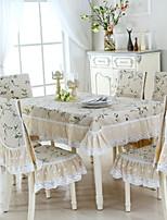 cheap -Contemporary Cotton Square Table Cloth Geometric Table Decorations 1 pcs
