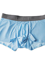 cheap -Men's Boxers Underwear Solid Colored Mid Waist