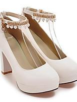 Недорогие -Жен. Обувь Полиуретан Весна Удобная обувь Обувь на каблуках На шпильке Белый / Розовый