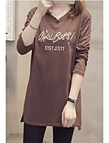 abordables -Tee-shirt Femme, Lettre - Coton Col en V