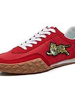 Недорогие -Муж. Комфортная обувь Эластичная ткань Весна Винтаж / На каждый день Кеды Нескользкий Черный / Красный