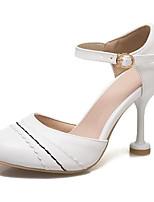 Недорогие -Жен. Комфортная обувь Полиуретан Лето Обувь на каблуках На шпильке Белый / Розовый