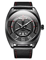 cheap -Men's Sport Watch Quartz Calendar / date / day Leather Band Analog Casual Black / Brown - Black / Red Black / White Black / Gray
