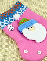 economico -Calze Vacanza Stoffa (cotone) Quadrato Originale Decorazione natalizia