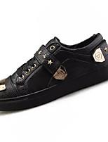 Недорогие -Муж. Комфортная обувь Искусственная кожа / Полиуретан Осень Кеды Контрастных цветов Белый / Черный / Красный