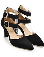 abordables -Femme Chaussures Daim Automne Confort / Escarpin Basique Chaussures à Talons Talon Bottier Jaune / Rouge / Vert