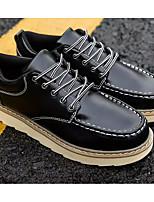 Недорогие -Муж. Комфортная обувь Полиуретан Весна & осень На каждый день Туфли на шнуровке Черный / Коричневый / Синий