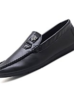 cheap -Men's Moccasin PU(Polyurethane) Fall Loafers & Slip-Ons Black / Red