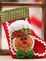 abordables -Medias de Lencería / ornamentos de Navidad Vacaciones Tejido de Algodón Cuadrado Novedades Decoración navideña